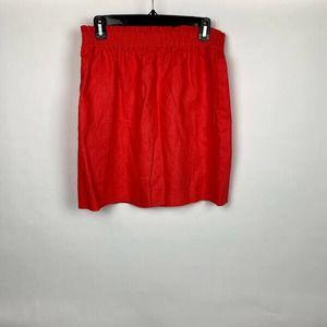 J. Crew Women's Red Midi Skirt Size US 4